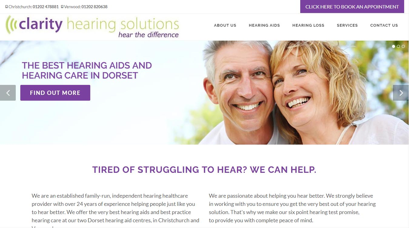 Clarity Solutions website