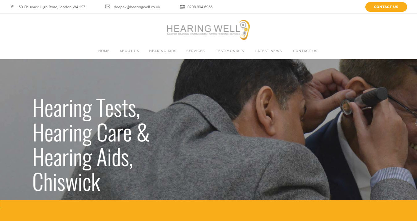 Hearing Well Website