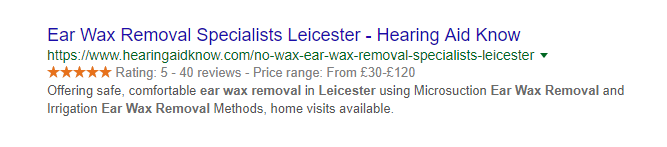 Ear wax removal Leicester
