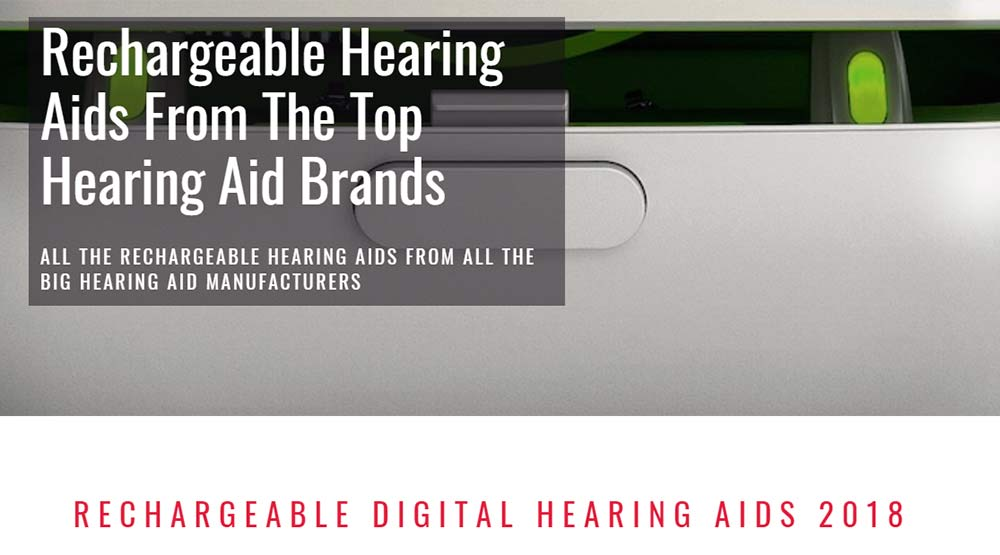 Rechargeable Hearing Aids Section