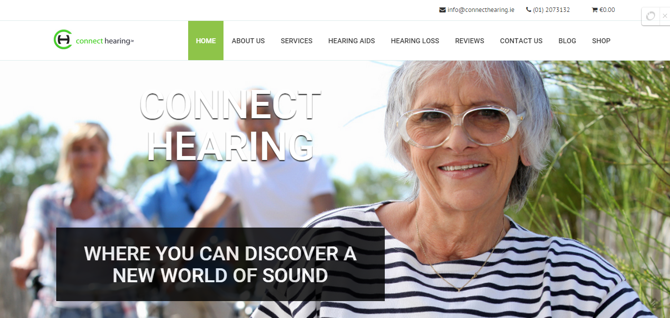 Connect Hearing website