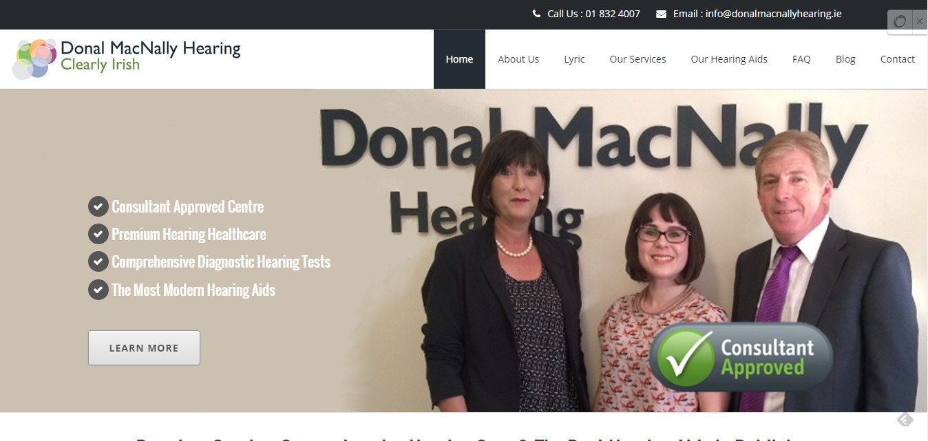 Donal MacNally Hearing website