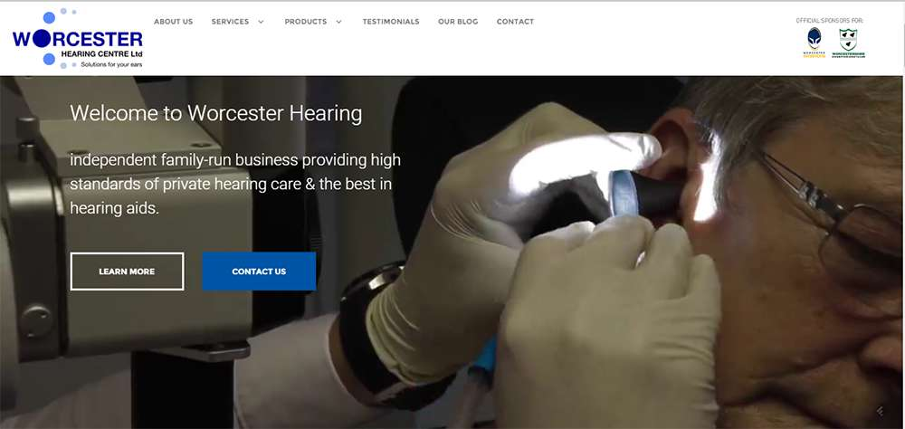 Worcester Hearing Website Build